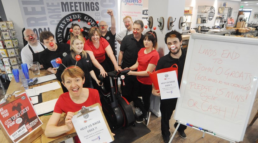 Farmers Fayre Sets Comic Relief cycling challenge